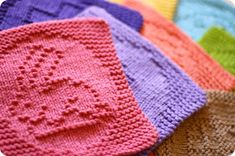 Knit Cloths for Easter from KrisKnits If you like to knit dishcloths, you'll want to check out these eight Easter-themed cloths! They're a fun project and mak. Knitting Blogs, Free Knitting, Knitting Projects, Baby Knitting, Knitting Ideas, Dishcloth Knitting Patterns, Crochet Dishcloths, Knit Patterns, Knitting Squares