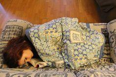 sofá, noches en vela, estudio