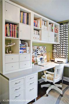 Ikea Handwerksraum, Ikea Desk, Ikea Office Cabinets, Ikea Craft Room, Craft Room Storage, Craft Rooms, Storage Ideas, Room Organization, Decor Room