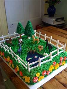 Horse Cake with Pond...this kind of thing I can usually manage