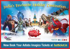 Bookings are available for #AdlabsImagica on #Fastticket!   Yes, book your season's best #entertainment & #adventure treat via @fastticket.in.   Checkout this: http://fastticket.in/event/adlab-imagica?69