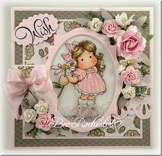 bev rochester - Tilda with Daisy - magnolia stamps