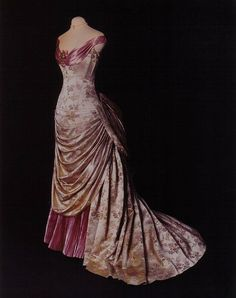 1890's bustled gown