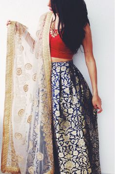 Beautiful Printed Lehenga Cholis for Women and Girls Ethnic Fashion, India Fashion, Asian Fashion, Pakistani Dresses, Indian Dresses, Indian Outfits, Indian Attire, Indian Ethnic Wear, Indian Style