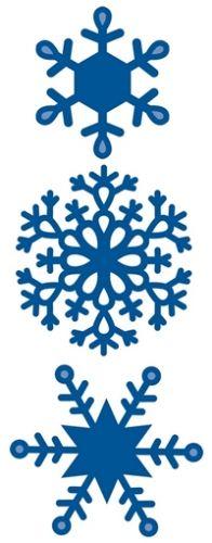 Marianne Design Creatables Stencil - Snowflake Finnish Dies måler ca:3.6cm, 4.9cm, 5.2cm