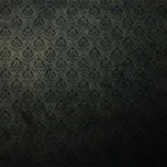 Black Victorian wallpaper for the steampunk bathroom