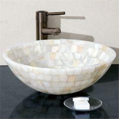 Mosaic Onyx Vessel Sink - SinksGallery