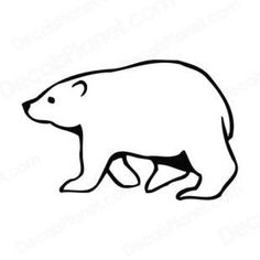 Side view of walking polar bear listed in bears decals.