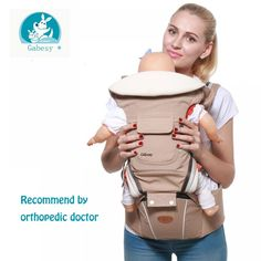Gabesy Baby Carrier Ergonomic Carrier Backpack Hipseat for newborn and prevent o-type legs sling baby Kangaroos Baby Holder, Kangaroo Baby, Ergonomic Baby Carrier, Baby Sling, Travel System, Traveling With Baby, Aliexpress, Trendy Baby, Baby Gear