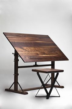 Walnut drafting table
