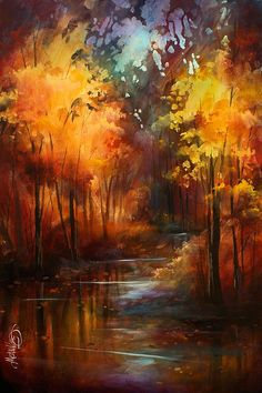 ' Autumns Place ' Print by Michael Lang
