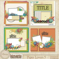Paper Lovers 5 (template pack) by Kimeric Kreations