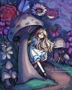 alice in wonderland art - - Yahoo Image Search Results Lewis Carroll, Studio Ghibli Films, Chesire Cat, Alice Madness, Adventures In Wonderland, Illustrations, Disney And Dreamworks, Princesas Disney, Disney Art