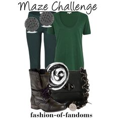 A fashion look from July 2013 featuring green short sleeve shirt, Vanessa Bruno Athé and short heel boots. Browse and shop related looks. Harry Potter Style, Harry Potter Outfits, Pretty Outfits, Cool Outfits, Casual Outfits, Cosplay Events, Fandom Fashion, Geek Fashion, Labyrinth
