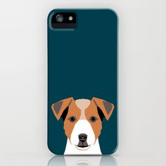 Bailey - Jack Russell Terrier phone case art print gift for dog people Jack Russell Terrier owners iPhone & iPod Case by PetFriendly - $35.00
