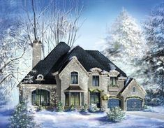 House Plan 49870 | Traditional Plan with 4054 Sq. Ft., 4 Bedrooms, 3 Bathrooms, 2 Car Garage