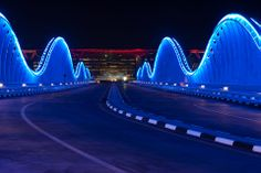 Meydan Vip Bridge & Royal Bridge Right at the middle of the Meydan city, dwells an architectural marvel, the Meydan Race course and the Meydan hotel. Connecting the Main Road to the Meydan Hotel is an. Led Lighting Solutions, Dubai World, Lights Fantastic, Lighting Companies, Light Project, Atlantic City, World Traveler, Save Energy, Architecture