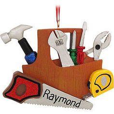 Personalized Handyman Tools Ornament