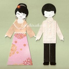 FILIPINO BOY and GIRL Couple in Barong Tagalog by kirakirahoshi, $11.20