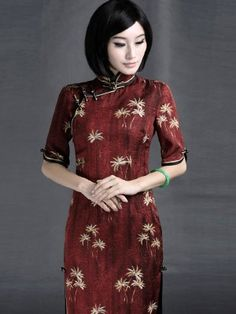 Silk Qipao / Cheongsam / Chinese Dress for Winter