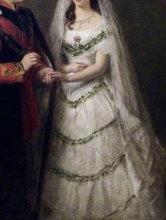"""""""The Marriage of the Prince and Princess of Wales"""" (1878) (detail) by William Powell Frith (1819-1909)."""