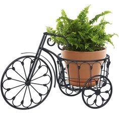 Mini Garden Bicycle Planter Home Decor Iron Plant Stand