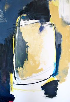 "oil, acrylic and chalk on canvas60"" x 48"""