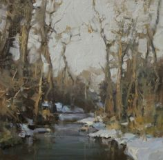 Winter's Thaw. Oil. Scott Christensen