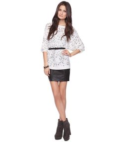 belt this sweater and wear with a black skirt and booties
