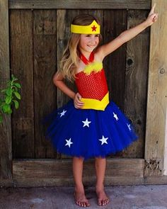 Tutu Mania Girl's Wonder Woman Costume