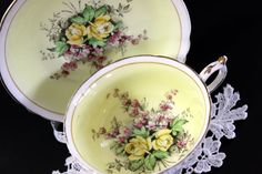Vintage Paragon CupTeacup and Saucer Double by TheVintageTeacup