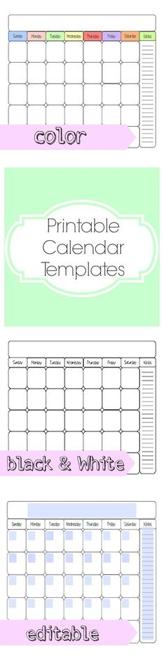 Printables For The Dry Erase Calendar  Craft Ideas