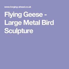 Flying Geese - Large Metal Bird Sculpture