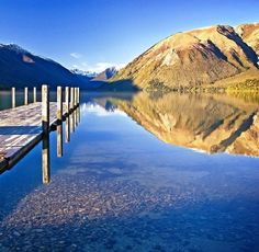 Blue lake Nelson New zealand