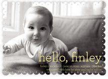 Hello Baby Birth Announcements... choos e the triple thick paper option