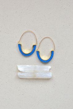 Temple Earrings in Capri Blue Tribalinspired by ISWASANDWILLBE