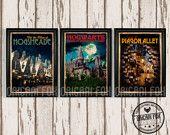 Hogwarts Retro Travel Poster Harry Potter by TheOrigamiFox