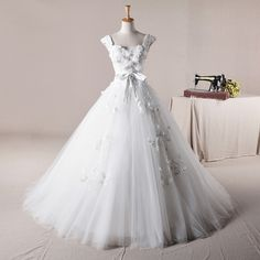 Straps Ball Gown Net charming wedding dress $596.00