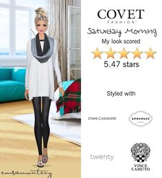 Saturday Morning @covetfashion #covet #covetfashion #covetfashionapp #fashion #womensfashion #covetwinter2015 #winter2015 #saturdaymorning #vincecamuto #apologie #zynnicashmere #brooklynheavymetal