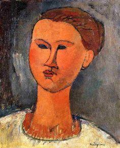 Cabeza de mujer, 1915 - Amedeo Modigliani