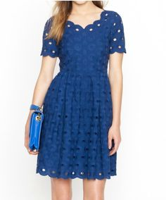 """"""" J.Crew, Circle Eyelet Dress. """" This is actually a perfect dress. Here's to hoping it's still in stock whenever I go to the States so I can try it on."""