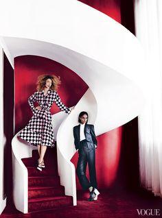 March '13 photo: Mario Testino model: Joan Smalls model2: Raquel Zimmermann fashion editor: Tonne Goodman