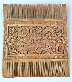 Ornamental comb South India, late 18C. ( the style of Nayaka rulers) Ivory  Size: 11 x 13 cm  The Susan L Beningson Collection.