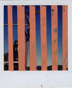 """INTERSECTION (VERTICAL HOLD)   oil on sx-70 Polaroid 