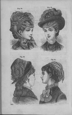 Godey's Lady's Book Volume 101 July To December 1880.  Hats