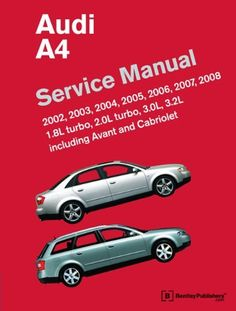 AUDI A4 CABRIOLET CONVERTIBLE OWNERS HANDBOOK MANUAL 2002 03 04 05 ...