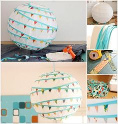 Awesome DIY Paper Lanterns & Lamps (Including doily lantern, scallop lantern, flower embellished lantern)