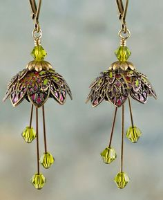 http://www.efairies.com/store/pc/Pixie-Flower-Painted-Earrings-Gold-Magenta-and-Lime-255p6744.htm Price $35.95
