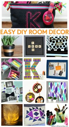Let's create awesome room decor ideas for all your room decorating projects this spring! Who wouldn't want to update their room with Tumblr inspired room decor ideas. Be sure to share how you're going to decorate your dorm.