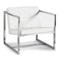 baxter chair - white - a modern, contemporary chair from chiasso